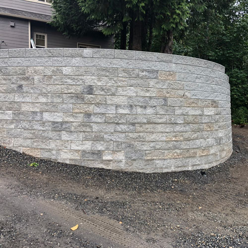 Retain Wall Construction in Bellingham by Agate Northwest