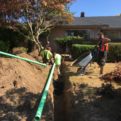 Sanitary Sewer Service Whatcom County Install and Repair